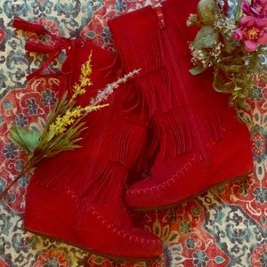 ❦red finge boots❦